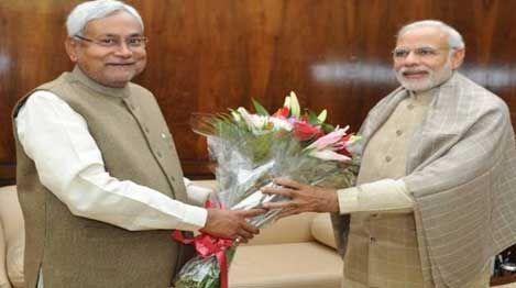 पीएम मोदी से मिले बिहार के मुख्यमंत्री नीतीश कुमार