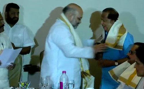 इसरो के पूर्व प्रमुख माधवन नायर ने ली बीजेपी की शपथ