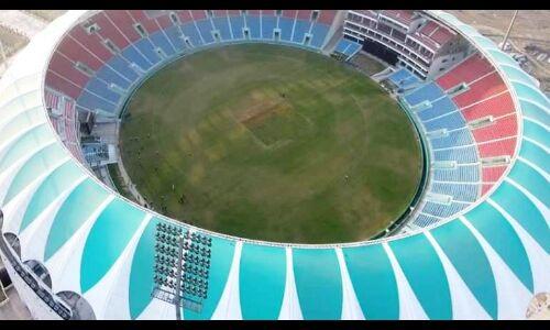 योगी आदित्यनाथ ने अटल बिहारी वाजपेयी अन्तरराष्ट्रीय क्रिकेट स्टेडियम का किया उद्घाटन