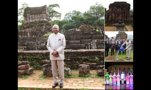 राष्ट्रपति राष्ट्रपति कोविंद ने किया वियतनाम के मंदिरों का भ्रमण