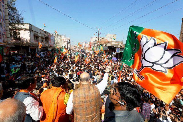 अशोकनगर : अमित शाह के रोड शो में उमड़ी हजारों की भीड़
