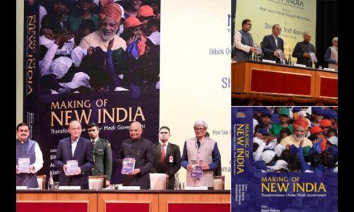 अरुण जेटली ने राष्ट्रपति को भेंट की मेकिंग ऑफ न्यू इंडिया पुस्तक की पहली प्रति
