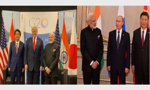 अंतरराष्ट्रीय कूटनीति में एक दूसरे के खिलाफ खड़ी महाशक्तियों के साथ मोदी ने की त्रिपक्षीय वार्ता