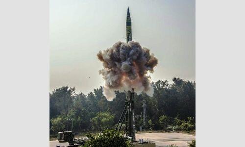 परमाणु हथियार ले जाने में सक्षम मिसाइल अग्नि-5 का परीक्षण सफल
