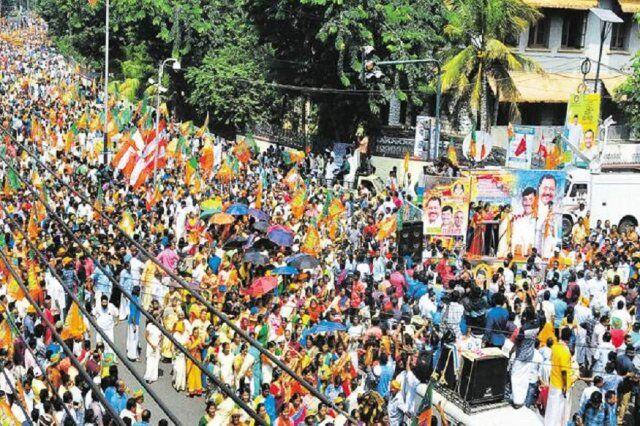 सबरीमाला पर भाजपा की हड़ताल का दिखा व्यापक असर