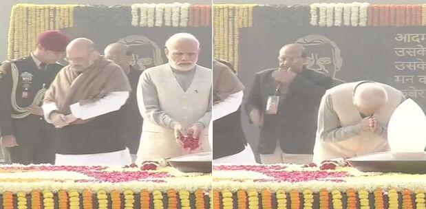 भारत रत्न अटल जी की जयंती पर प्रधानमंत्री और भाजपा राष्ट्रीय अध्यक्ष ने दी श्रद्धांजलि