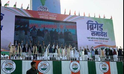 ब्रिगेड रैली से भाजपा के खिलाफ विपक्ष ने भरी हुंकार