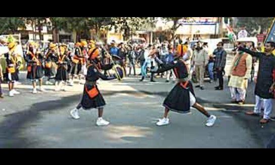वंदे मातरम के जयकारों से गूंजा एमजी रोड
