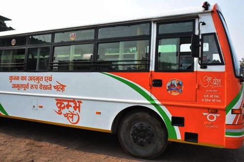 कुम्भ मेला के लिए लखनऊ से 210 अतिरिक्त बसों का संचालन शुरू