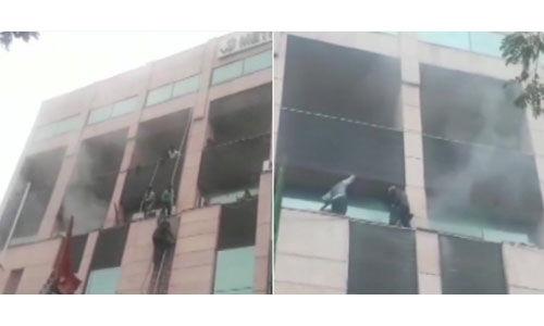 नोएडा सेक्टर 12 के मेट्रो अस्पताल में लगी आग