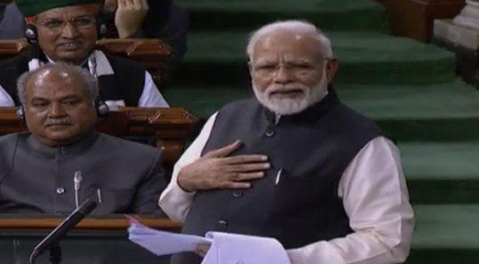 कांग्रेस के 55 साल के सत्ताभोग और अपनी सरकार के 55 माह के सेवाभाव का ब्योरा दिया मोदी ने