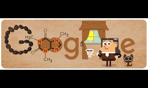 गूगल ने कैफिन खोजकर्ता के 225वें जन्मदिन पर डूडल बना किया याद