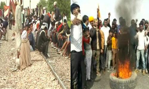 राजस्थान में हिंसक हुआ गुर्जर आंदोलन: पुलिस के तीन वाहन फूंके, चार पुलिसकर्मी चोटिल