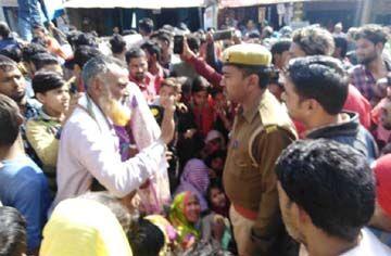 राशन न मिलने पर ग्रामीणों ने किया जयपुर हाइवे जाम