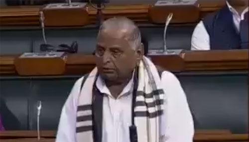 लोकसभा में बोले मुलायम - कामना है कि फिर प्रधानमंत्री बनें नरेंद्र मोदी