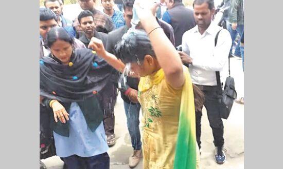विवि में छात्रा ने किया आत्मदाह का प्रयास