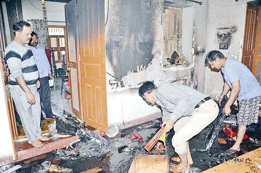 त्रिपुरा के राज्यपाल कप्तान सिंह सोलंकी के घर में लगी आग