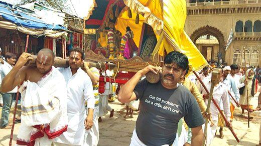 भगवान रंगनाथ ने गोदाजी के साथ खेला गेंदबच्ची का खेल