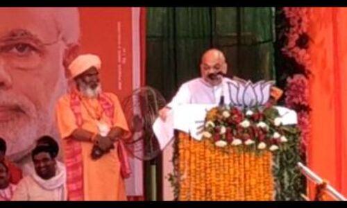 सपा-बसपा ने गुंडागर्दी को बढ़ावा दिया, भाजपा ने किया जेल के अंदर : अमित शाह