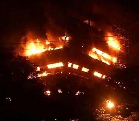 नेचुरल हिस्ट्री म्यूजियम में लगी भीषण आग, सभी दस्तावेज खाक