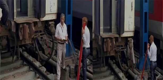 दिल्ली रेलवे स्टेशन पर आज सुबह एक बडा रेल हादसा टला, जम्मू राजधानी एक्सप्रेस हुई बेपटरी