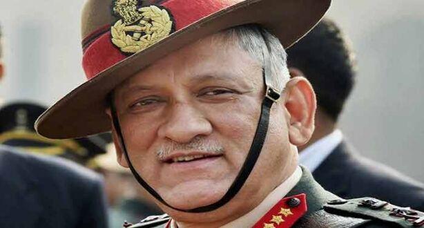 थलसेना प्रमुख ने किया कश्मीर का दौरा