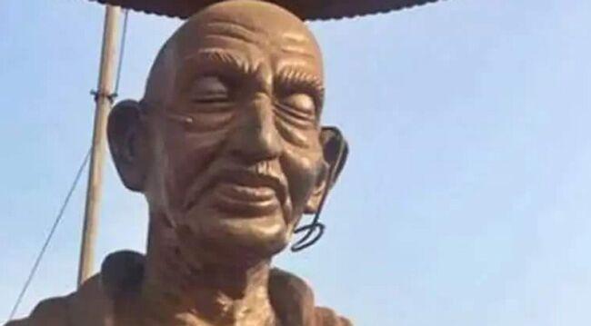 अब केरल में उपद्रवियों ने तोड़ी गांधी प्रतिमा