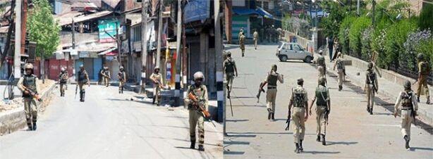 अलगाववादियों के प्रदर्शन के बाद कश्मीर घाटी के कुछ हिस्सों कर्फ्यू जैसा प्रतिबंध