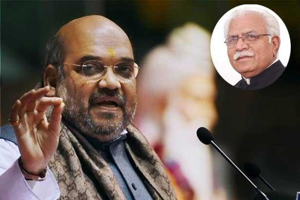 हरियाणा सीएम ने पंचकूला हिंसा पर शाह को सौंपी रिपोर्ट