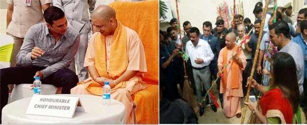 सीएम योगी ने किया स्वच्छता अभियान का शंखनाद, अक्षय कुमार भी हुए शामिल
