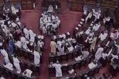 सांप्रदायिक हिंसा बिल पर संसद में हंगामा, राहुल ने की नारेबाजी